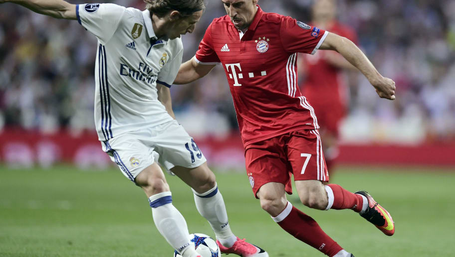 Image result for ribery nutmeg vs modric