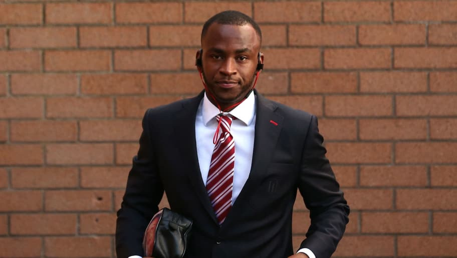 BURNLEY, ENGLAND - APRIL 04: Saido Berahino of Stoke City arrives at the stadium prior to the Premier League match between Burnley and Stoke City at Turf Moor on April 4, 2017 in Burnley, England.  (Photo by Jan Kruger/Getty Images)
