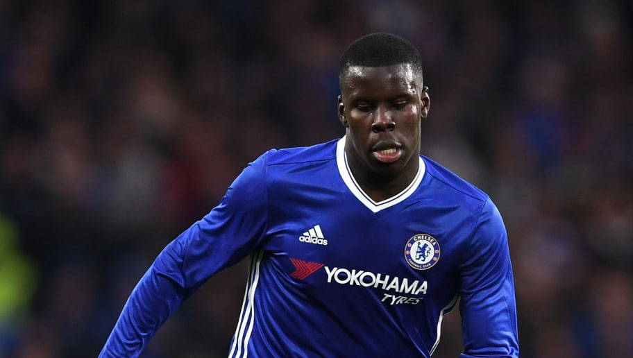 LONDON, ENGLAND - JANUARY 08:  Kurt Zouma of Chelsea in action during The Emirates FA Cup Third Round match between Chelsea and Peterborough United at Stamford Bridge on January 8, 2017 in London, England.  (Photo by Shaun Botterill/Getty Images)