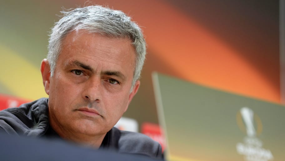 Manchester United's Portuguese coach Jose Mourinho gives a press conference at Balaidos stadium in Vigo, on May 3, 2017, on the eve of the UEFA Europa League semi-final football match against Celta de Vigo. / AFP PHOTO / MIGUEL RIOPA        (Photo credit should read MIGUEL RIOPA/AFP/Getty Images)