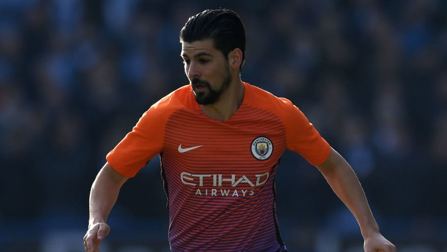 HUDDERSFIELD, ENGLAND - FEBRUARY 18:  Nolito of Manchester City during the The Emirates FA Cup Fifth Round match between Huddersfield Town and Manchester City at John Smith's Stadium on February 18, 2017 in Huddersfield, England.  (Photo by Gareth Copley/Getty Images)