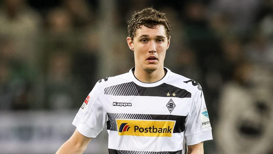 MOENCHENGLADBACH, GERMANY - APRIL 05: Andreas Christensen of Moenchengladbach controls the ball during the Bundesliga match between Borussia Moenchengladbach and Hertha BSC at Borussia-Park on April 5, 2017 in Moenchengladbach, Germany. (Photo by Maja Hitij/Bongarts/Getty Images)