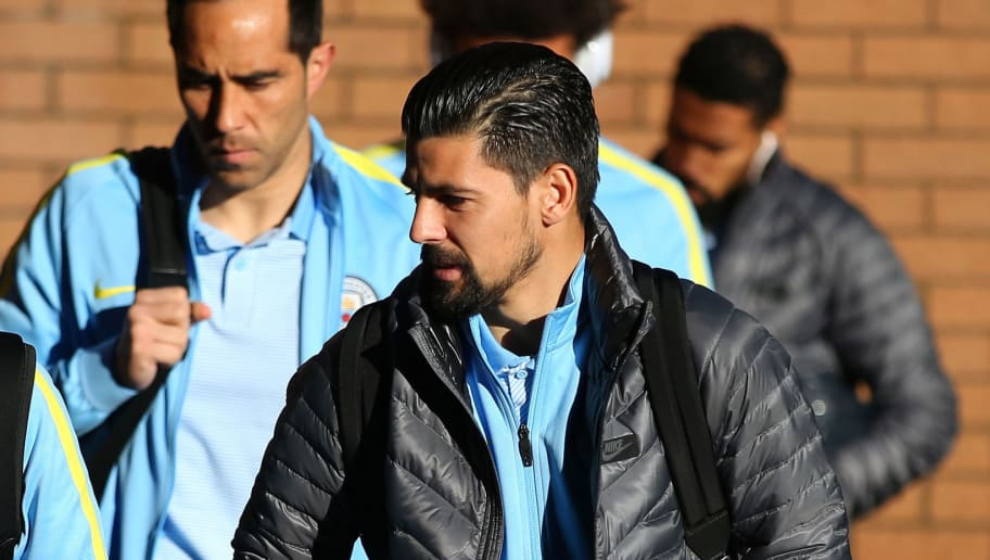 BURNLEY, ENGLAND - NOVEMBER 26:  Nolito of Manchester City is seen on arrival at the stadium prior to the Premier League match between Burnley and Manchester City at Turf Moor on November 26, 2016 in Burnley, England.  (Photo by Alex Livesey/Getty Images)