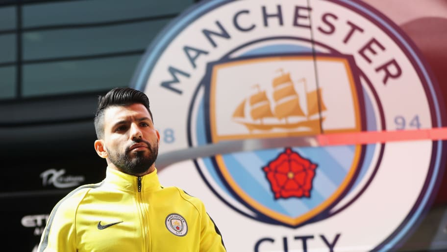 MIDDLESBROUGH, ENGLAND - APRIL 30:  Sergio Aguero of Manchester City arrives at the stadium prior to the Premier League match between Middlesbrough and Manchester City at the Riverside Stadium on April 30, 2017 in Middlesbrough, England.  (Photo by Ian MacNicol/Getty Images)