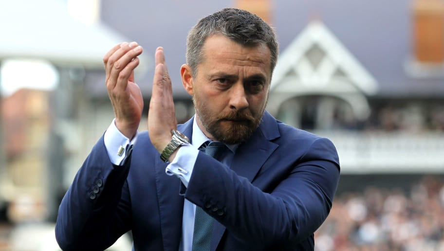 LONDON, ENGLAND - MAY 13: Slavisa Jokanovic, manager of Fulham shows appreciation to the fans prior to the Sky Bet Championship Play off semi final 1st leg match between Fulham and Reading at Craven Cottage on May 13, 2017 in London, England.  (Photo by Harry Hubbard/Getty Images)