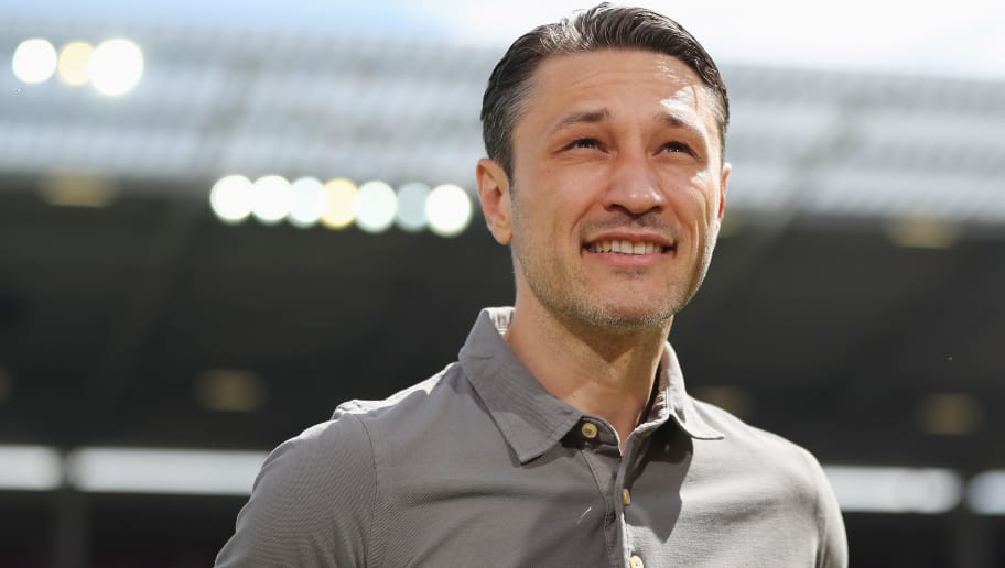 MAINZ, GERMANY - MAY 13:  Head coach Niko Kovac of Frankfurt looks on prior to the Bundesliga match between 1. FSV Mainz 05 and Eintracht Frankfurt at Opel Arena on May 13, 2017 in Mainz, Germany.  (Photo by Alex Grimm/Bongarts/Getty Images)