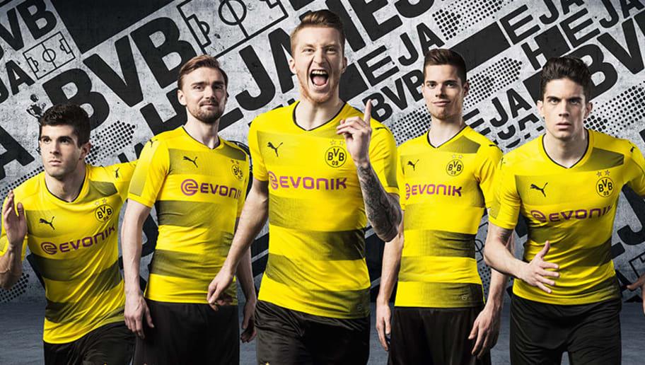 a0172904d07 PHOTOS  Borussia Dortmund Officially Unveil Striking New Kit for 2017 18  Season
