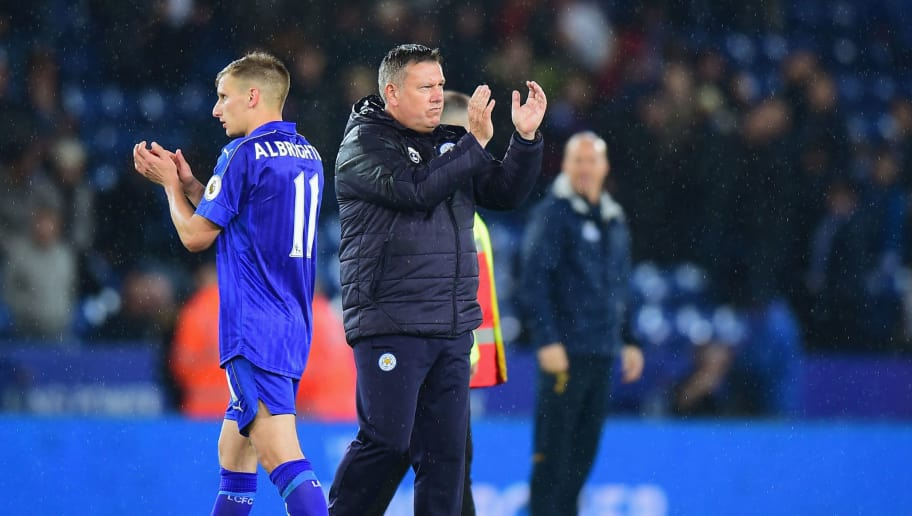 LEICESTER, ENGLAND - MAY 18:  Craig Shakespeare manager of Leicester City and Marc Albrighton of Leicester City applaud the corwd after the Premier League match between Leicester City and Tottenham Hotspur at The King Power Stadium on May 18, 2017 in Leicester, England.  (Photo by Tony Marshall/Getty Images)