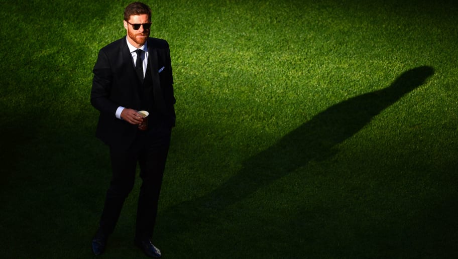 LISBON, PORTUGAL - MAY 24:  Suspended Xabi Alonso of Real Madrid looks on ahead of the UEFA Champions League Final between Real Madrid and Atletico de Madrid at Estadio da Luz on May 24, 2014 in Lisbon, Portugal.  (Photo by Lars Baron/Getty Images)