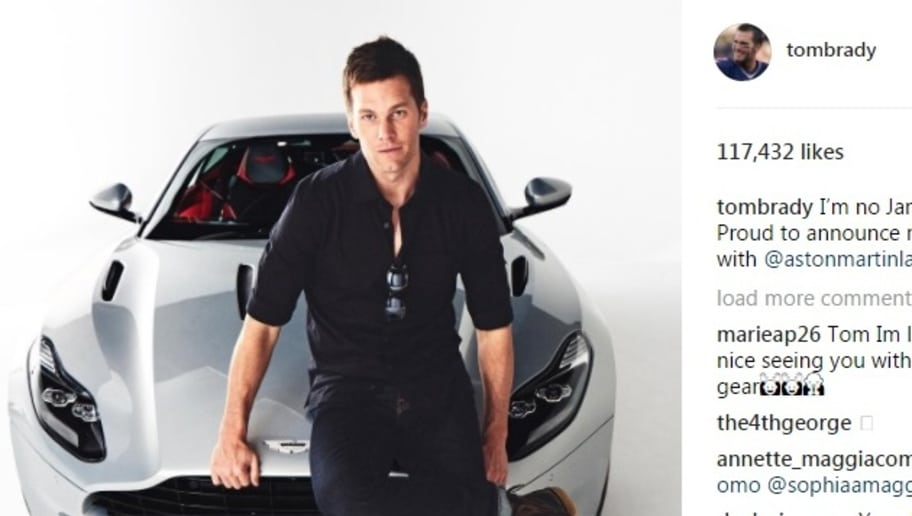 tom brady announces awesome new partnership with aston martin | 12up