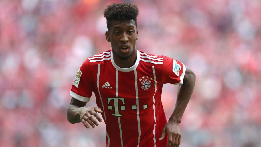 MUNICH, GERMANY - MAY 20:  Kingsley Coman of Bayern Muenchen looks on during the Bundesliga match between Bayern Muenchen and SC Freiburg at Allianz Arena on May 20, 2017 in Munich, Germany.  (Photo by Alexander Hassenstein/Bongarts/Getty Images)