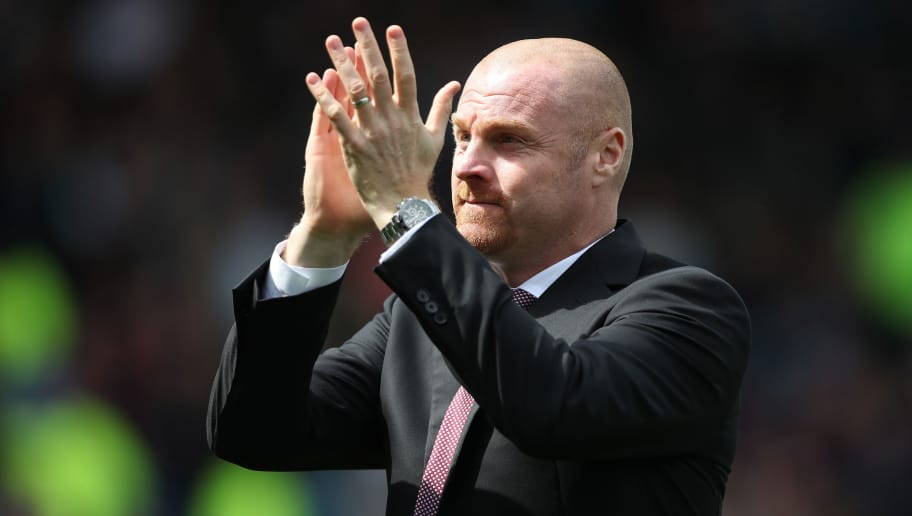 BURNLEY, ENGLAND - MAY 21: Sean Dyche, Manager of Burnley reacts during the Premier League match between Burnley and West Ham United at Turf Moor on May 21, 2017 in Burnley, England.  (Photo by Ian MacNicol/Getty Images)