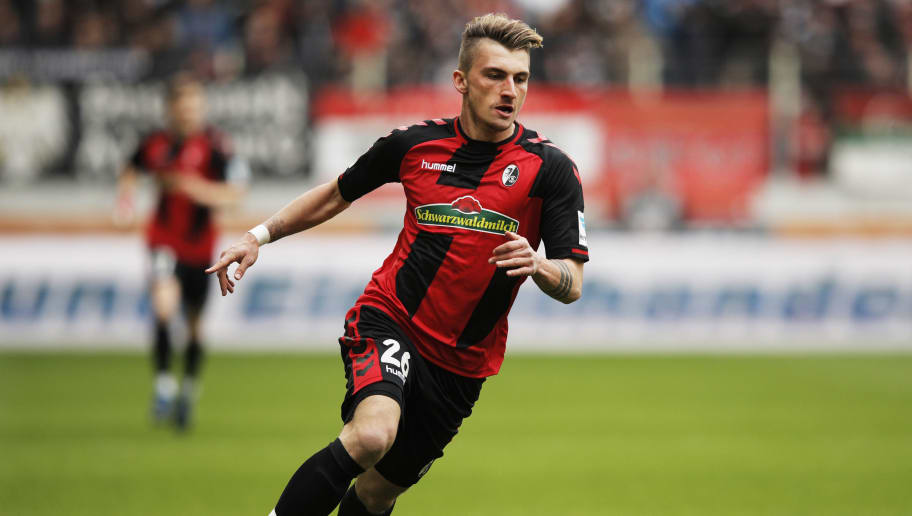 AUGSBURG, GERMANY - MARCH 18:  Maximilian Philipp of Freiburg in action during the Bundesliga match between FC Augsburg and SC Freiburg at WWK Arena on March 18, 2017 in Augsburg, Germany.  (Photo by Adam Pretty/Bongarts/Getty Images)