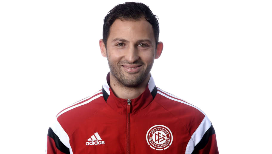 HENNEF, GERMANY - NOVEMBER 04:  Domenico Tedesco poses during the DFB Pro Licence Coaching Course at Sportschule Hennef on November 4, 2015 in Hennef, Germany.  (Photo by Sascha Steinbach/Bongarts/Getty Images)
