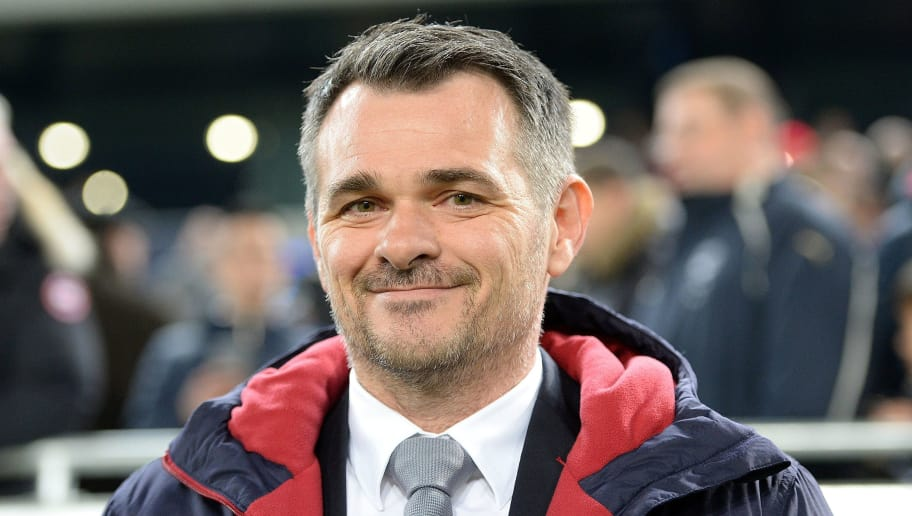 Bordeaux's French head coach Willy Sagnol smiles before the French L1 football match between Bordeaux and Lille at the Matmut Atlantique stadium in Bordeaux, southwestern France, on January 16, 2016. AFP PHOTO / NICOLAS TUCAT / AFP / NICOLAS TUCAT        (Photo credit should read NICOLAS TUCAT/AFP/Getty Images)