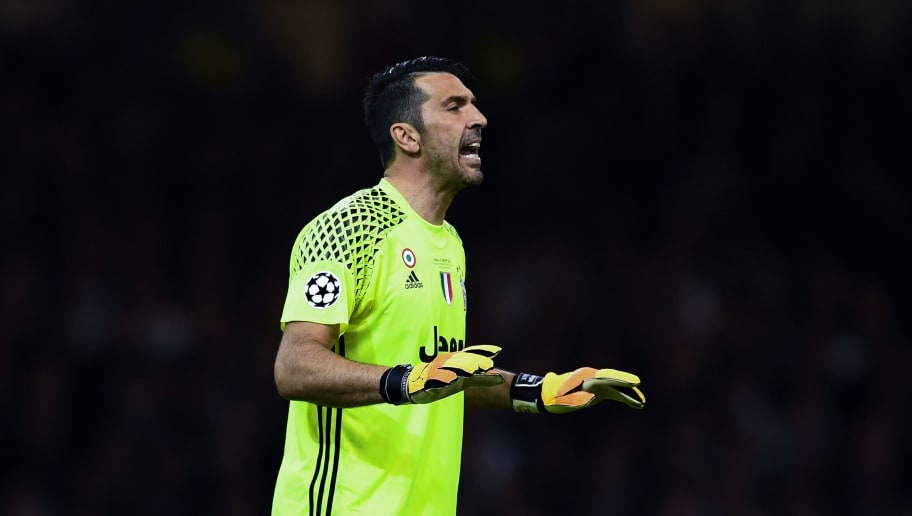 CARDIFF, WALES - JUNE 03:  Gianluigi Buffon of Juventus reacts during the UEFA Champions League Final between Juventus and Real Madrid at National Stadium of Wales on June 3, 2017 in Cardiff, Wales.  (Photo by David Ramos/Getty Images)