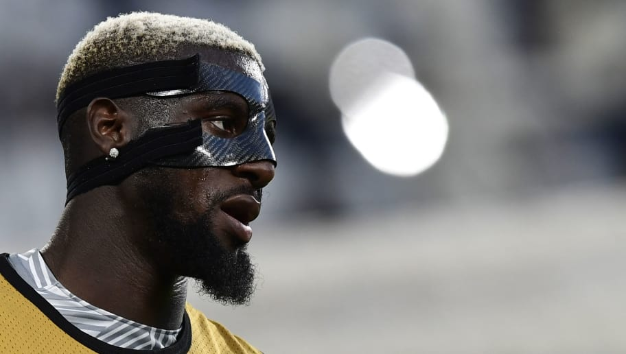 Monaco's French midfielder Tiemoue Bakayoko warms up before the UEFA Champions League semi final second leg football match Juventus vs Monaco, on May 9, 2017 at the Juventus stadium in Turin.  / AFP PHOTO / Miguel MEDINA        (Photo credit should read MIGUEL MEDINA/AFP/Getty Images)