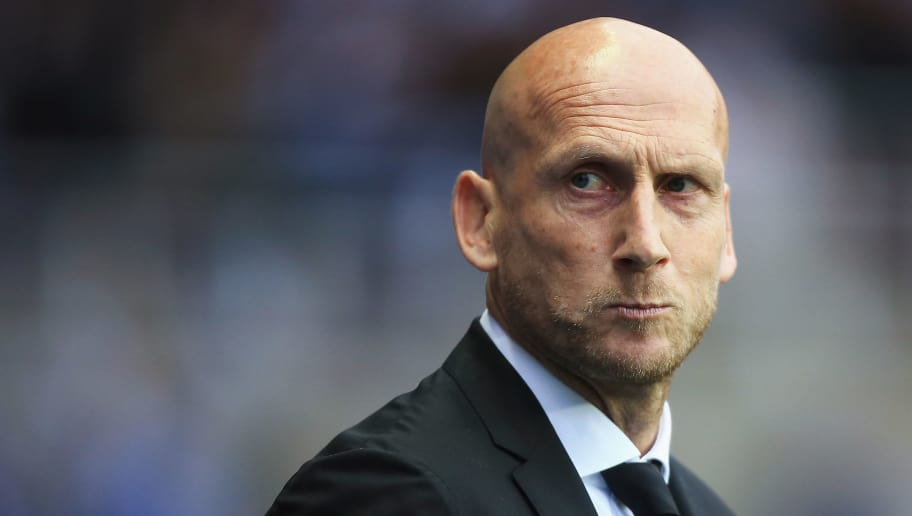 READING, ENGLAND - MAY 16: Jaap Stam, Manager of Reading looks on prior to the Sky Bet Championship Play Off Second Leg match between Reading and Fulham at Madejski Stadium on May 16, 2017 in Reading, England.  (Photo by Ben Hoskins/Getty Images)