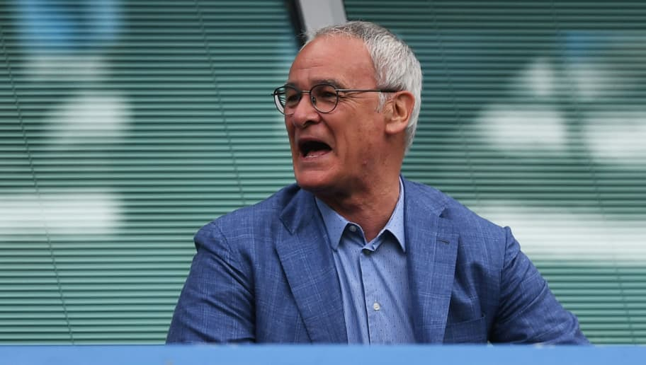 LONDON, ENGLAND - MAY 21: Claudio Ranieri, ex Leicester City manager looks on  during the Premier League match between Chelsea and Sunderland at Stamford Bridge on May 21, 2017 in London, England.  (Photo by Shaun Botterill/Getty Images)
