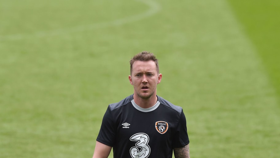 DUBLIN, IRELAND - JUNE 03:  Aiden McGeady of the Republic of Ireland during a training session at Aviva Stadium on June 3, 2015 in Dublin, Ireland. The Republic of Ireland play England in a friendly game this coming Sunday, the first meeting between the two sides in Dublin since the abandonment of a game in 1995 due to hooliganism. (Photo by Charles McQuillan/Getty Images)