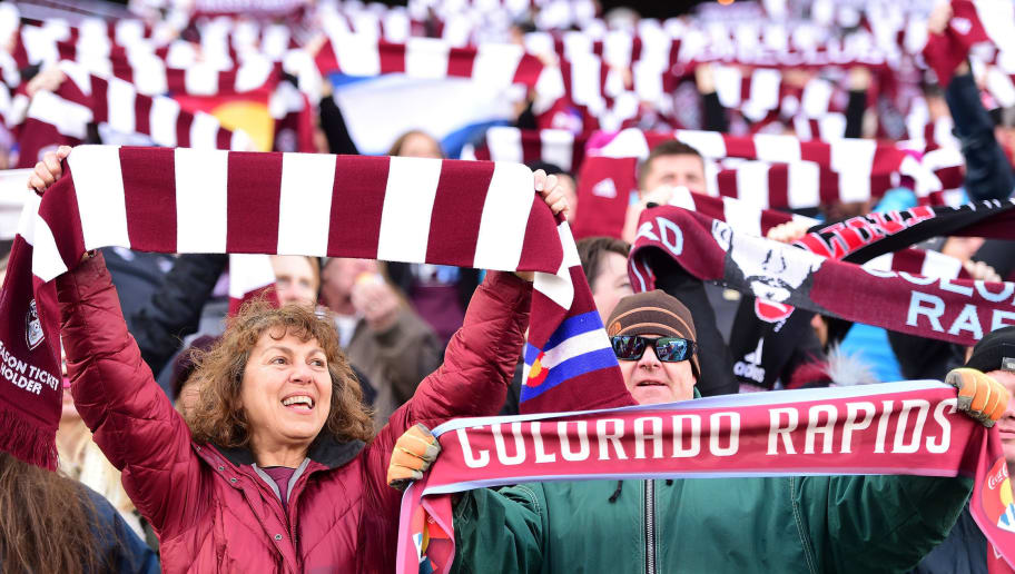 COMMERCE CITY, CO - NOVEMBER 27:  Colorado Rapids fans before the MLS Western Conference Finals game against the Seattle Sounders at Dick's Sporting Goods Park on November 27, 2016 in Commerce City, Colorado.  (Photo by Harry How/Getty Images)