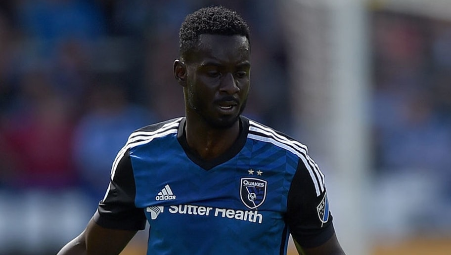 SAN JOSE, CA - MARCH 06:  Dominique Badji #14 of Colorado Rapids gets tripped by Simon Dawkins #49 of San Jose Earthquakes during their MLS Soccer game in the first half at Avaya Stadium on March 6, 2016 in San Jose, California.  (Photo by Thearon W. Henderson/Getty Images)