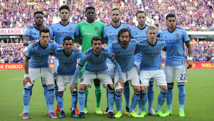 ORLANDO, FL - MARCH 05:  The starting lineup for New York City FC is seen during a MLS soccer match between New York City FC and Orlando City SC at the Orlando City Stadium on March 5, 2017 in Orlando, Florida. (Photo by Alex Menendez/Getty Images)