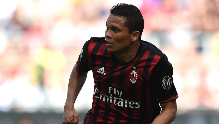 MILAN, ITALY - APRIL 09:  Carlos Bacca of Milan in action during the Serie A match between AC Milan and US Citta di Palermo at Stadio Giuseppe Meazza on April 9, 2017 in Milan, Italy.  (Photo by Tullio M. Puglia/Getty Images)