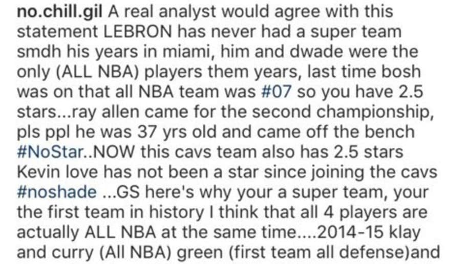 Gilbert Arenas Goes on Wild Instagram Rant Defending LeBron James  b4ab92e5a