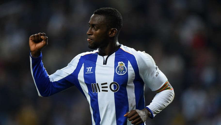 Porto's Colombian forward Jackson Martinez celebrates after scoring during the Portuguese league football match FC Porto vs Gil Vicente at the Dragao stadium in Porto on May 10, 2015.   AFP PHOTO/ FRANCISCO LEONG        (Photo credit should read FRANCISCO LEONG/AFP/Getty Images)