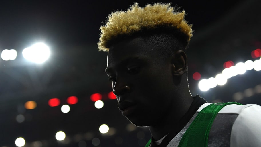 TURIN, ITALY - MARCH 10:  Moise Kean of Juventus FC looks on prior to the Serie A match between Juventus FC and AC Milan at Juventus Stadium on March 10, 2017 in Turin, Italy.  (Photo by Valerio Pennicino/Getty Images)