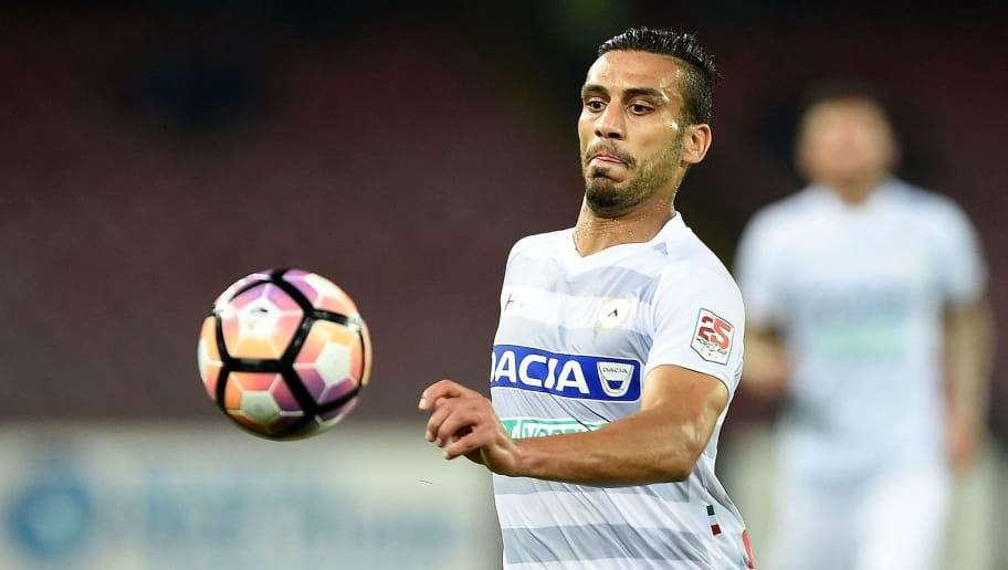 NAPLES, ITALY - APRIL 15:  Ali Adnan of Udinese Calcio in action during the Serie A match between SSC Napoli and Udinese Calcio at Stadio San Paolo on April 15, 2017 in Naples, Italy.  (Photo by Francesco Pecoraro/Getty Images)