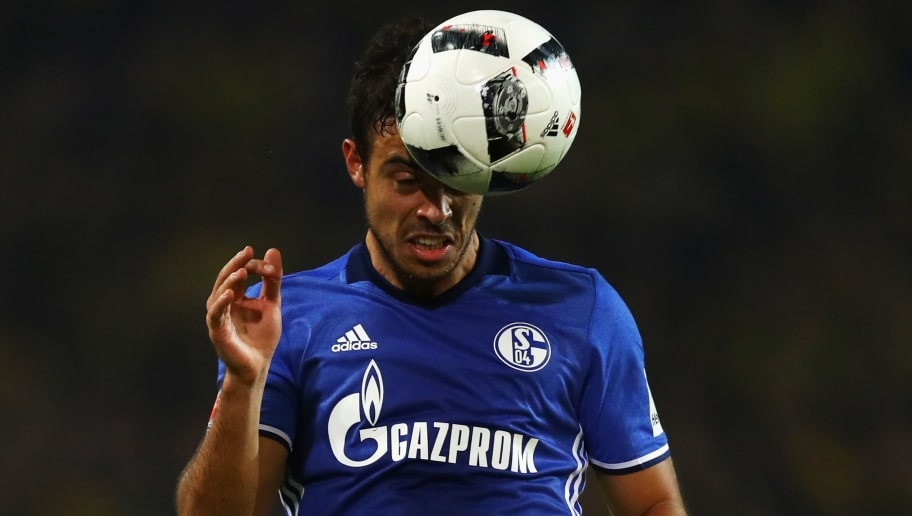 DORTMUND, GERMANY - OCTOBER 29:  Franco Di Santo of Schalke in action during the Bundesliga match between Borussia Dortmund and FC Schalke 04 at Signal Iduna Park on October 29, 2016 in Dortmund, Germany.  (Photo by Dean Mouhtaropoulos/Bongarts/Getty Images)