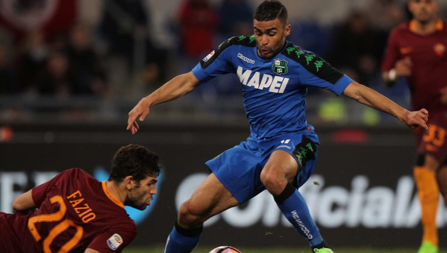ROME, ITALY - MARCH 19:  Gregoire Defrel of US Sassuolo in action during the Serie A match between AS Roma and US Sassuolo at Stadio Olimpico on March 19, 2017 in Rome, Italy.  (Photo by Paolo Bruno/Getty Images)
