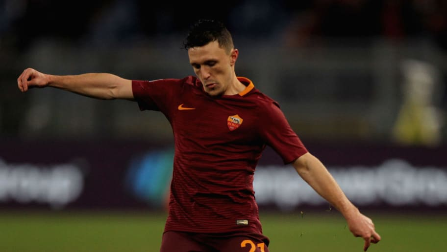 ROME, ITALY - JANUARY 19:  Mario Rui of AS Roma in action during the TIM Cup match between AS Roma and UC Sampdoria at Stadio Olimpico on January 19, 2017 in Rome, Italy.  (Photo by Paolo Bruno/Getty Images)