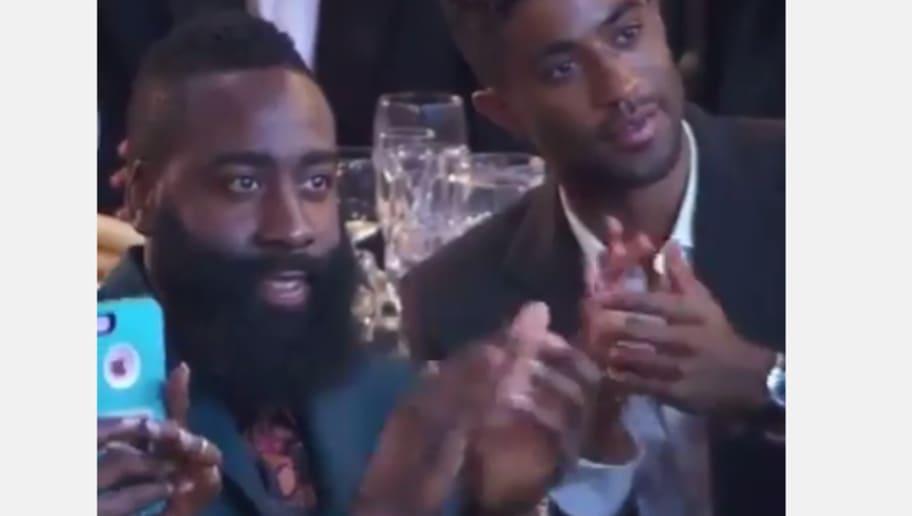 719cacd3c987 VIDEO  James Harden Was Clearly Gushing Over Nicki Minaj at NBA Awards