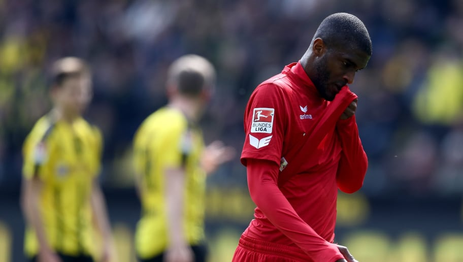 DORTMUND, GERMANY - APRIL 29:  Anthony Modeste of Koeln is seen during the Bundesliga match between Borussia Dortmund and 1. FC Koeln at Signal Iduna Park on April 29, 2017 in Dortmund, Germany.  (Photo by Lars Baron/Bongarts/Getty Images)