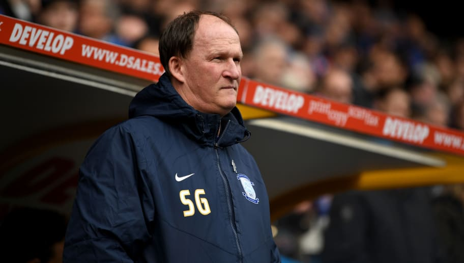 HUDDERSFIELD, ENGLAND - APRIL 14:  Preston manager Simon Grayson during the Sky Bet Championship match between Huddersfield Town and Preston North End at Galpharm Stadium on April 14, 2017 in Huddersfield, England.  (Photo by Gareth Copley/Getty Images)