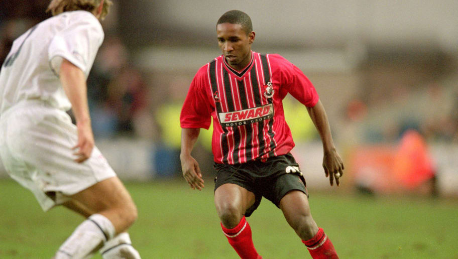 27 Jan 2001:  Jermaine Defoe of Bournemouth on the ball during the Nationwide League Division Two match against Millwall at the New Den in London. Bournemouth won 1-0. \ Mandatory Credit: Chris Lobina /Allsport