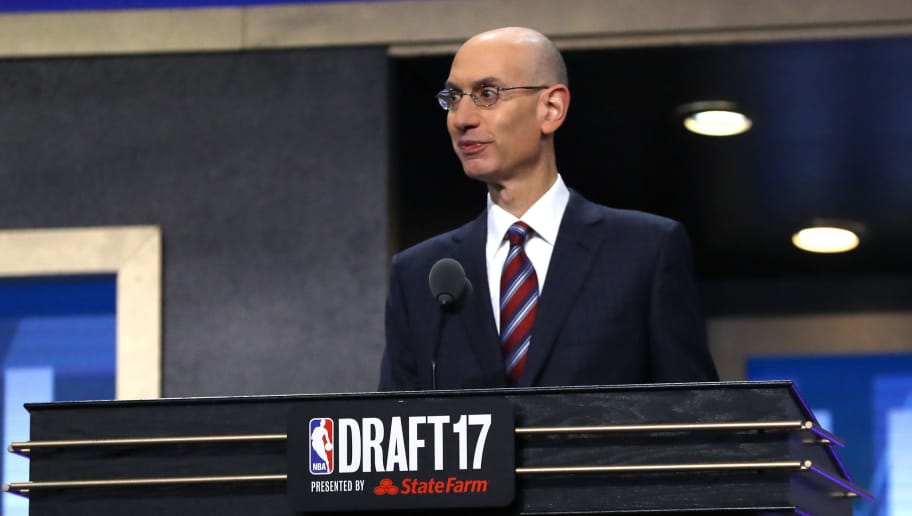 NEW YORK, NY - JUNE 22: NBA Commissioner Adam Silver speaks during the first round of the 2017 NBA Draft at Barclays Center on June 22, 2017 in New York City. NOTE TO USER: User expressly acknowledges and agrees that, by downloading and or using this photograph, User is consenting to the terms and conditions of the Getty Images License Agreement.  (Photo by Mike Stobe/Getty Images)