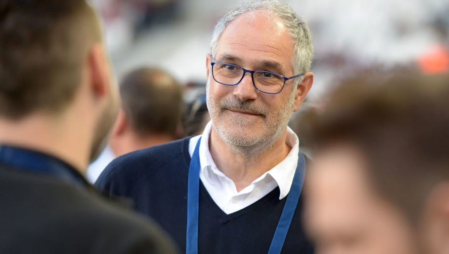Marseille's manager Andoni Zubizarreta looks on prior to the French Ligue 1 football match between Bordeaux and Marseille on May 14, 2017 at the Matmut Atlantique stadium in Bordeaux, southwestern France.  / AFP PHOTO / NICOLAS TUCAT        (Photo credit should read NICOLAS TUCAT/AFP/Getty Images)