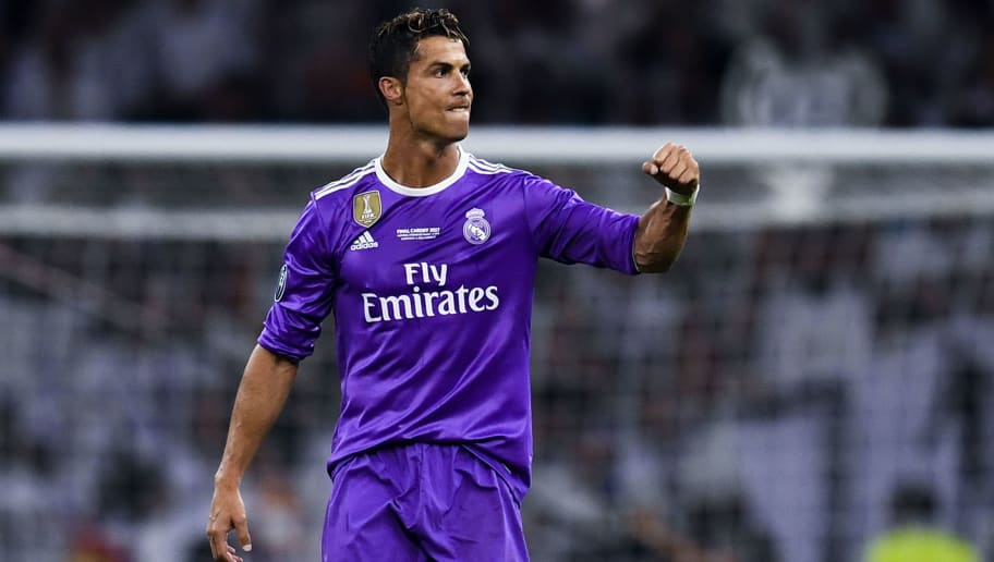 CARDIFF, WALES - JUNE 03:  Cristiano Ronaldo of Real Madrid CF celebrates after scoring his team's third goal during the UEFA Champions League Final between Juventus and Real Madrid at National Stadium of Wales on June 3, 2017 in Cardiff, Wales.  (Photo by David Ramos/Getty Images)