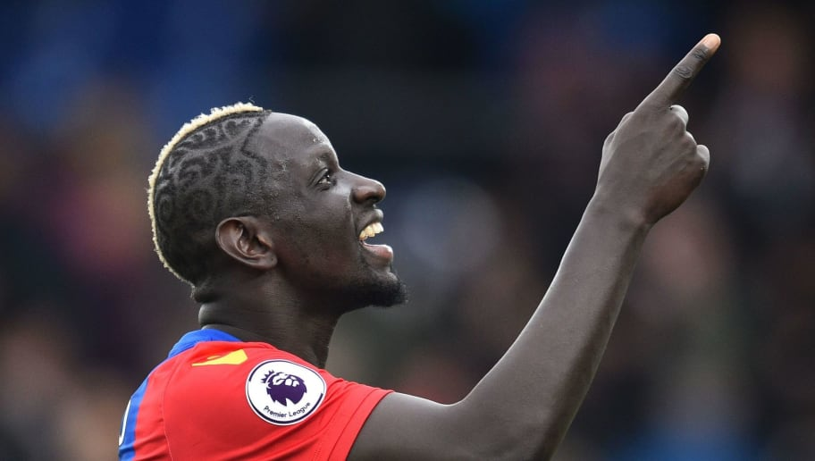 Crystal Palace's French midfielder Mamadou Sakho gestures as he celebrates on the pitch after the English Premier League football match between Crystal Palace and Watford at Selhurst Park in south London on March 18, 2017. Crystal Palace won the game 1-0. / AFP PHOTO / Glyn KIRK / RESTRICTED TO EDITORIAL USE. No use with unauthorized audio, video, data, fixture lists, club/league logos or 'live' services. Online in-match use limited to 75 images, no video emulation. No use in betting, games or single club/league/player publications.  /         (Photo credit should read GLYN KIRK/AFP/Getty Images)