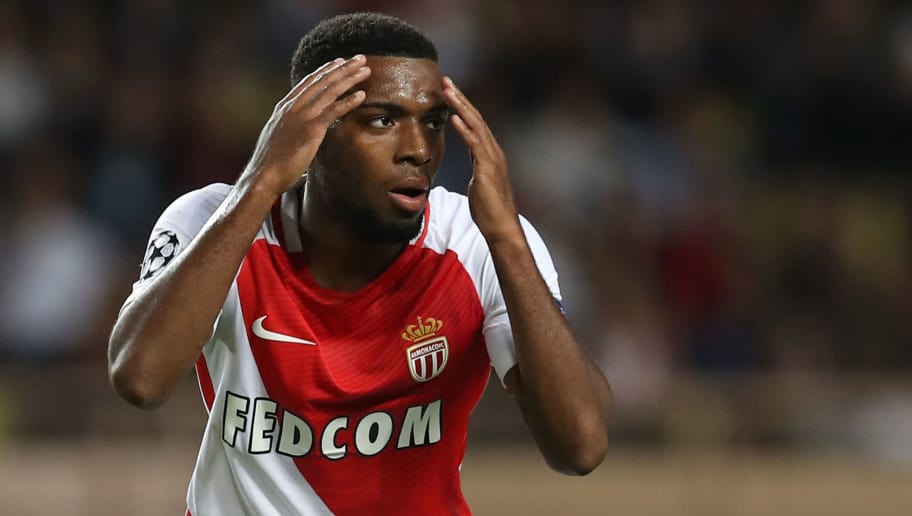 Monaco's French midfielder Thomas Lemar reacts after missing a goal opportunity during the UEFA Champions League football match AS Monaco vs Bayer Leverkusen, on September 27, 2016 in Monaco. / AFP / Valery HACHE        (Photo credit should read VALERY HACHE/AFP/Getty Images)