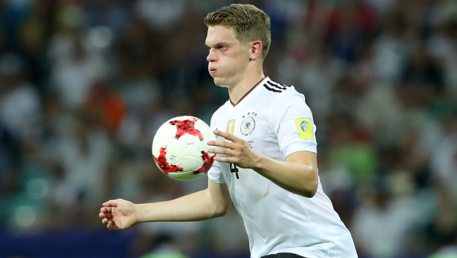 SOCHI, RUSSIA - JUNE 29:  Matthias Ginter of Germany runs with the ball during the FIFA Confederations Cup Russia 2017 Semi-Final between Germany and Mexico at Fisht Olympic Stadium on June 29, 2017 in Sochi, Russia.  (Photo by Alexander Hassenstein/Bongarts/Getty Images)