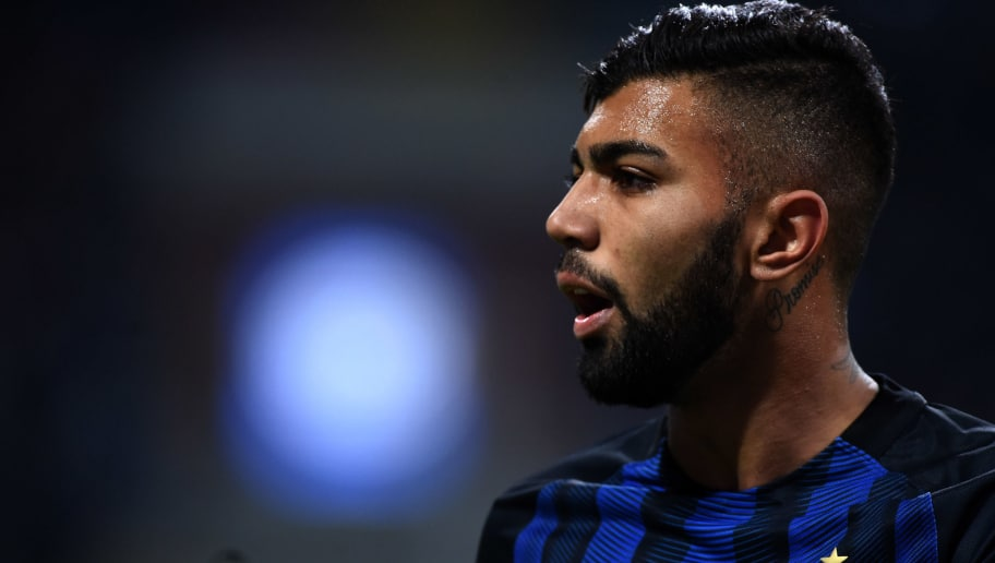 MILAN, ITALY - JANUARY 17:  Gabriel Barbosa of FC Internazionale looks on during the TIM Cup match between FC Internazionale and Bologna FC at Stadio Giuseppe Meazza on January 17, 2017 in Milan, Italy.  (Photo by Pier Marco Tacca/Getty Images)