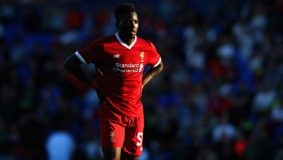 BIRKENHEAD, ENGLAND - JULY 12:  Sheyi Ojo of Liverpool during a pre-season friendly match between Tranmere Rovers and Liverpool at Prenton Park on July 12, 2017 in Birkenhead, England.  (Photo by Alex Livesey/Getty Images)