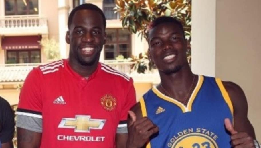 outlet store 6c206 f1463 PHOTOS: NBA Star Draymond Green Poses With Barcelona Jersey ...