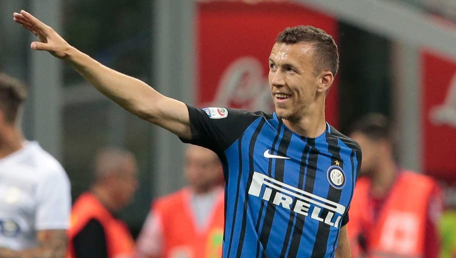 MILAN, ITALY - MAY 28:  Ivan Perisic of FC Internazionale Milano celebrates his goal during the Serie A match between FC Internazionale and Udinese Calcio at Stadio Giuseppe Meazza on May 28, 2017 in Milan, Italy.  (Photo by Emilio Andreoli/Getty Images)