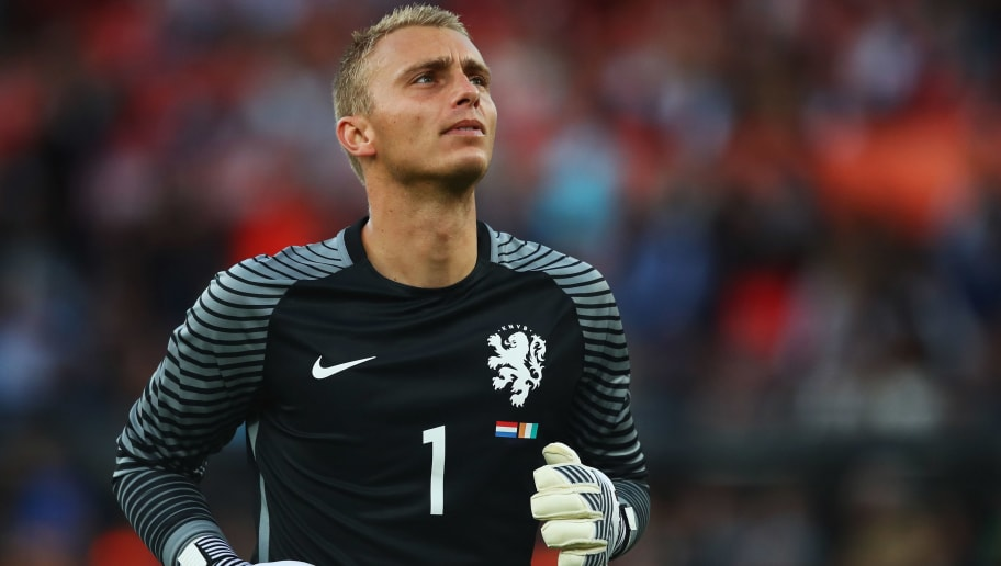 ROTTERDAM, NETHERLANDS - JUNE 04:  Goalkeeper, Jasper Cillessen of the Netherlands in action during the International Friendly match between the Netherlands and Ivory Coast held at De Kuip or Stadion Feijenoord on June 4, 2017 in Rotterdam, Netherlands.  (Photo by Dean Mouhtaropoulos/Getty Images)